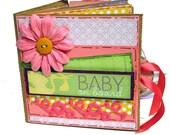 Baby on Board Girl Paper Bag Mini Scrapbook