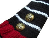 Long Knit Pirate Fingerless Gloves- You pick the colors - made to order