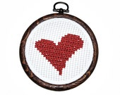 Small Heart Cross Stitch sustainable fashion - designbySEMY