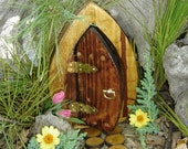 "Fairy Door, Gnome Door, Hobbit Door, Elf Door, Troll Door, 7"" Tall Open Enchanted Door"