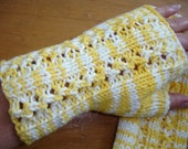 PDF Pattern Knitting Texting Fingerless Mitts Yellow Brick Road