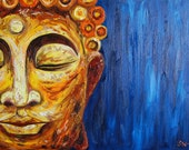 Thai Buddha Original Oil Painting