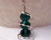 Teal Crystal Spings Pendant