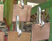 Custom Copper Garden Stakes / Plant Markers - Bumblebee Motif - Set Of Six - Hand Stamped - dillybags