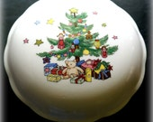 Vintage Japanese Christmas Candy Dish