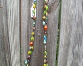 Uganda Magazine bead necklace long