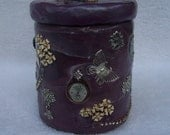 SALE-Victorian Steampunk Lidded Jar