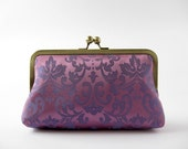 Royal Purple Clutch bag in silk lining Bag Noir - BagNoir