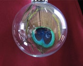 ONE Peacock Christmas Decoration