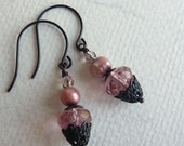 Pink Earrings - Victorian Look