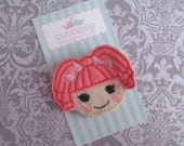 Felt Hair Clip Tippy Lala Doll No Slip Felt Hair Clippie