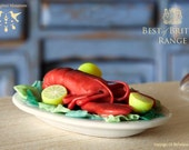 Baked Lobster 1/12 scale dollhouse miniature - HummingbirdMiniature