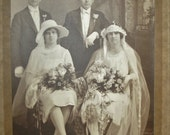 Antique Wedding Photo Beautiful 1920's Photograph - cantapunks