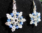 Swarovski Crystal Snowflake Earrings