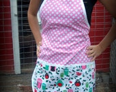 Candy dot, Christmas Apron, one size fits all, great holiday gift and stocking stuffer LIMITED EDITION