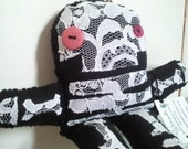 Lacey Gracey Skully OOAK felt and lace plush