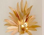 Gold Leaf light sconce
