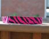 Womens athletic work-out exercise NO-slip headband -1'' Dark Pink Zebra -Perfect Stocking stuffer