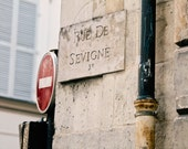 Paris Photo, Paris Photography, Urban Fine Art Print, Paris Decor, Neutrals, Shabby Chic, Home Decor - Rue de Sevigne (8x10) - MelanieAlexandra