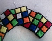 Rubiks Cube ornaments 6pc