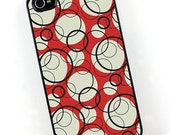 iPhone 4 and iPhone 4s Case, Mod Circles in Red