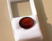 "Fine 7.39 Crt Natural Hessonite Garnet Oval Cut ""Gomed"" Gemstone with certificate."