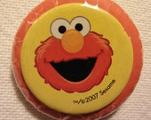 Sesame Street's Elmo pinback button (badge)