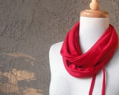 Valentine's Day Red Infinity Circle Scarf