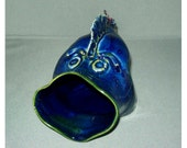 Fun Fish Ceramic Coin Jar or spong holder - HilltopPottery