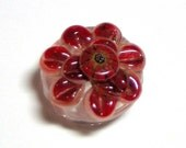 White Cattelya Orchid Lampwork Glass Bead