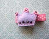 Lavender Crown Felt Clip