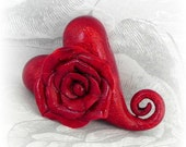 Roses are Red Valentine Heart  Bead/Pendant