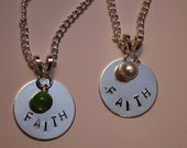 "Handstamped ""Faith"" Pendant"
