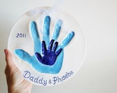 Handprints of Daddy and me or sibling handprints  MOLD INCLUDED - Dprintsclayful