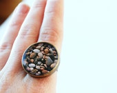 Beach Pebbles Nautical Ring with Original Photography from Little Eye - littleeyedesigns