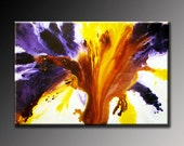 Abstract Painting Abstract Art Purple Violet White Yellow Large Contemporary Modern Affordable 24x36 Fine Art by Viviana Fleing