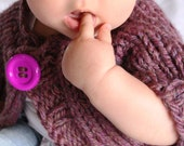 Hand Knitted Baby Bolero Shrug in purple