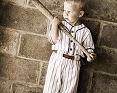 Baseball Uniforms for Photo Prop Or dress up, 3 piece,  Made to Order in Children's sizes - terilyn44