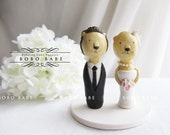Love Wedding Cake Toppers Hand Sculpted - Lion