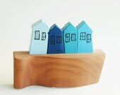 Little Houses Village on the Hill Sculptural Wall Art - NUTAK