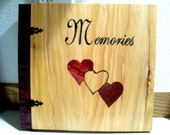 "Wood Inlay ""Memories"" Scrapbook / Photo Album - 12"" x 12"""