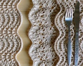 Hand knitted lace placemats - Knitting pattern