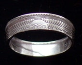 Silver Coin Ring 1957 Egypt 5 Piastres - RIng Size 5 1/4 and Double Sided