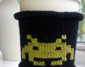 Space Invader Coffee Cozy - Coffee Cup Cozy