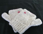 Hand-knitted Scottish Tweed Fingerless Gloves