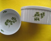 Vintage Sadek Parsley Oven to Table COOKWARE souffle vegetable bowl casserole