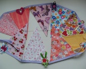 Bunting for Girls, Handmade, very pretty, wonderful in a girl's room or for birthdays/occasions