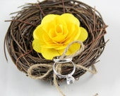 Rustic Birds nest Ring Bearer Pillow Only ONE available - Rusticblend
