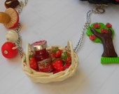 Little Red Riding Hood Collection - handmade polymer clay miniature food jewelry