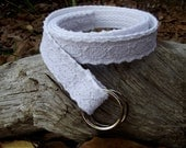 Womans Belt, Crochet Belt, White Belt